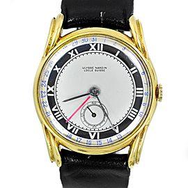 Ulysse Nardine 9336 Vintage 14K Gold Plated Men's Watch