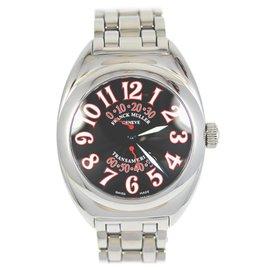Franck Muller N589 Transamerica Stainless Steel Black Dial Quartz Men's Watch