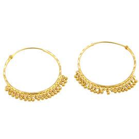 12K Yellow Gold Hoop Earrings