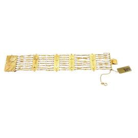 Estate 18K Yellow Gold Italian Arrow Multi Link Bracelet
