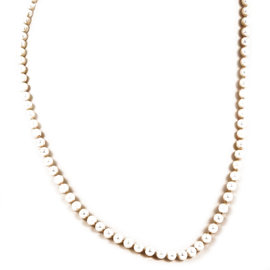 Mikimoto Pearl & 18K Yellow Gold Clasp Strand Necklace