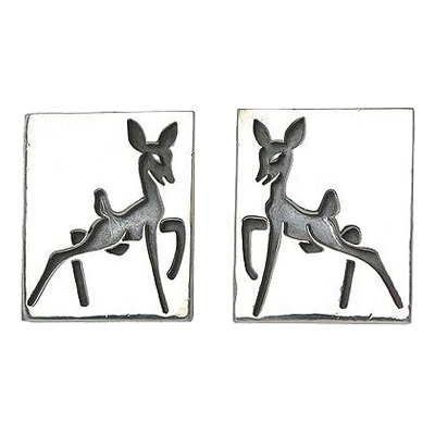 "Image of ""Antonio Pineda Sterling Silver Deer Cufflinks"""