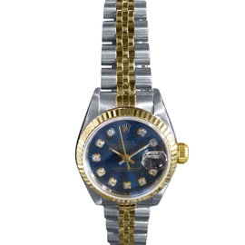 Rolex Datejust 18K Yellow Gold & Stainless Steel Watch with Diamond Dial