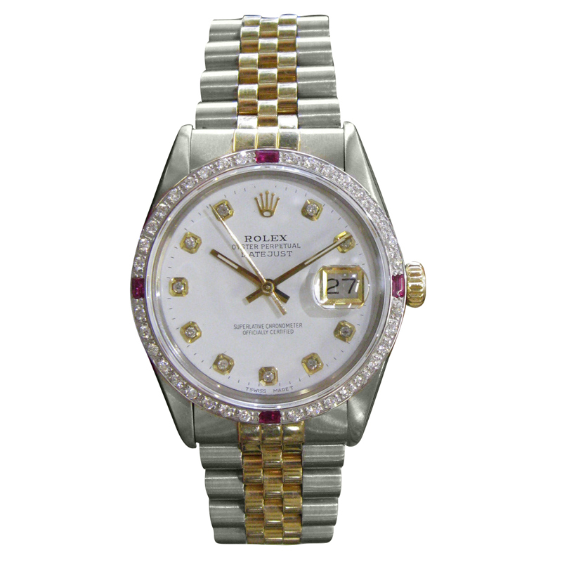 """""""""""Rolex Oyster Perpetual Datejust Diamonds Gold and Stainless Steel"""""""""""" 55266"""