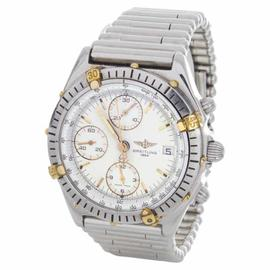 Breitling D13047 White Dial Silver Bullet Band Automatic Mens Watch