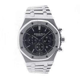 Audemars Piguet 26320ST.OO.1220ST.01 Royal Oak Chronograph Steel Black Dial Watch