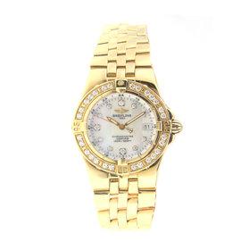Breitling K71340 Starliner With Diamond Bezel Yellow Gold Ladies Watch