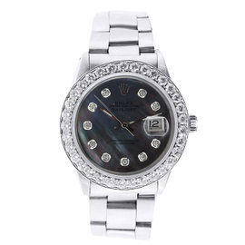 Rolex 16013 Date Just Diamond Dial and Bezel 36mm Vintage Wrist Watch