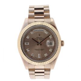 Rolex 218235 Day Date II President Rose Gold Diamond Dial Watch