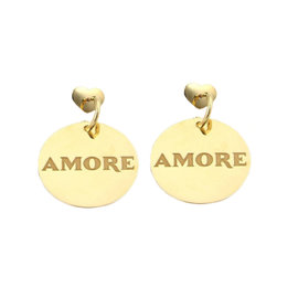 Pasquale Bruni Amore 18K Yellow Gold Large Disc Drop Dangle Earrings