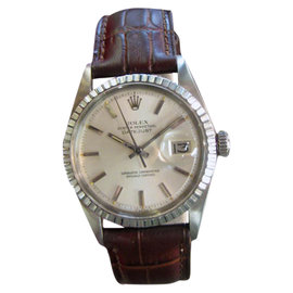 Vintage Rolex Oyster Perpetual Datejust Stainless Steel 36mm Watch