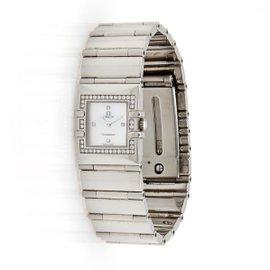 Omega Quadra Constellation MOP Diamond Dial & Bezel Stainless Steel Watch