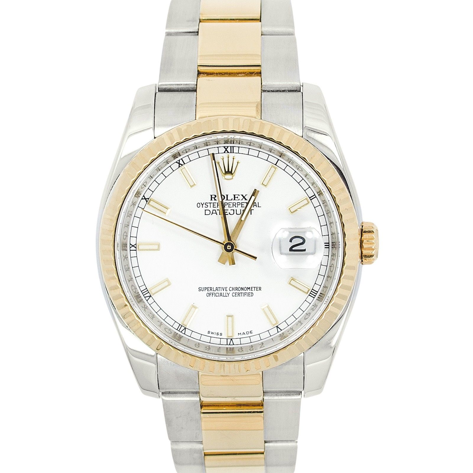 """Image of """"Rolex 116233 Datejust Champagne Index Dial 18K Stainless Steel Saint"""""""