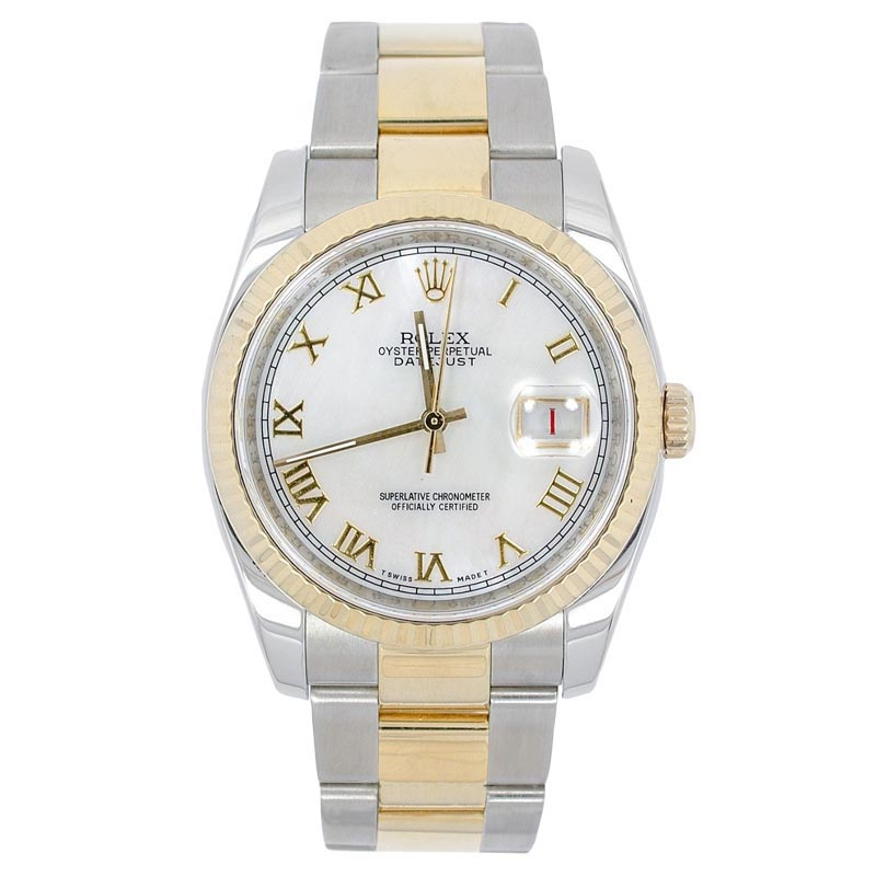 """Image of """"Rolex 116233 Datejust White Dial 18K Stainless Steel Saint Blanc Men's"""""""