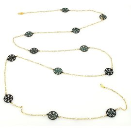 Gurhan Gold Seed Pearls & Brass Accents Stations Necklace