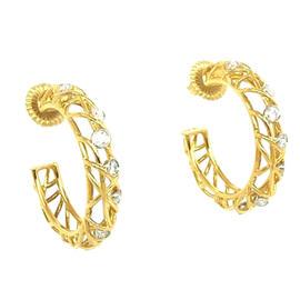 Hearts On Fire 18K Diamonds Brocade Hoop Earrings