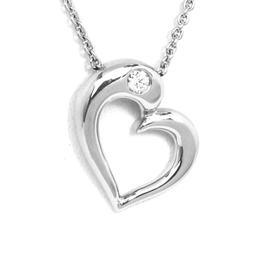 Hearts On Fire 18k Gold Diamond Heart Pendant Necklace