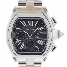 Cartier Roadster Chronograph Stainless Steel Black Dial Watch