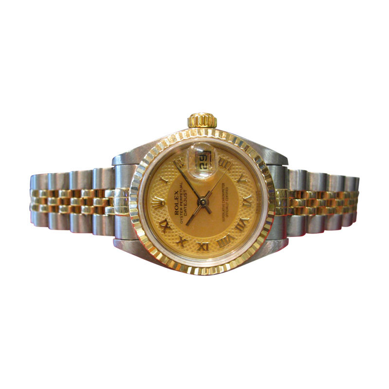 "Image of ""Rolex Datejust Mother Of Pearl Roman Numeral Two-Tone Gold & Stainless"""