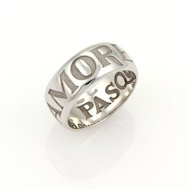 Pasquale Bruni 18k White Gold Amore Band Ring