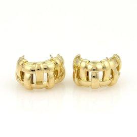 Tiffany & Co. 18K Yellow Gold Vannerie Basket Hoop Earrings