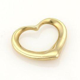 Tiffany & Co. 18k Yellow Gold Elsa Peretti Open Heart Charm Pendant
