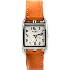 Hermes CC2710 Cape Cod Orange Wrap Around Bracelet Stainless Quartz Unisex Watch