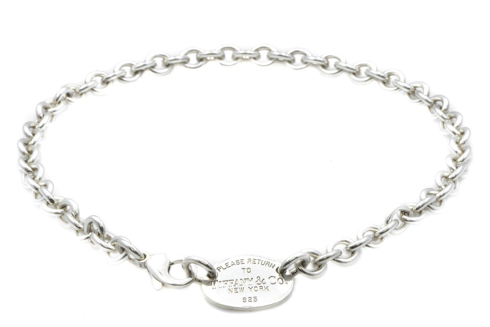 "Image of ""Tiffany & Co. New York 925 Sterling Silver Chain Necklace"""