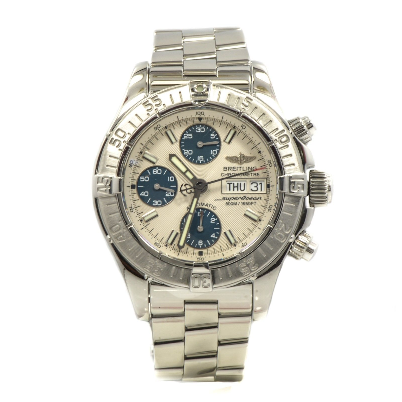 """Image of """"Breitling A13360 Super Ocean Stainless Steel Automatic Mens Watch"""""""