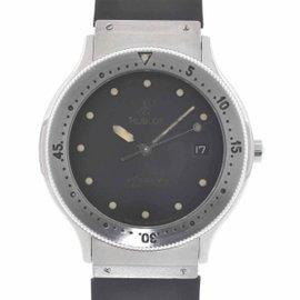 Hublot MDM Geneve Professional Stainless Steel & Black Rubber Bracelet Watch