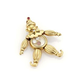 Chopard 18K Yellow Gold Diamonds & Rubies Clown Pendant