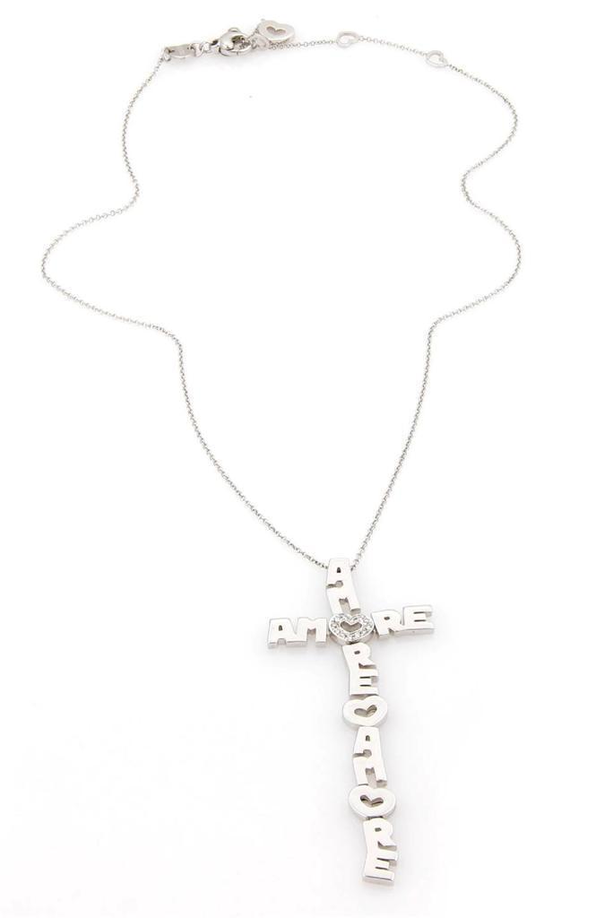 """""Pasquale Bruni Amore 18K White Gold & Diamond Cross Pendant"""""" 352217"