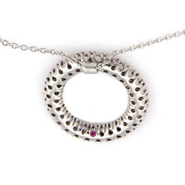 Roberto Coin 18k White Gold and Champagne Diamond Necklace