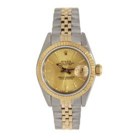 Rolex Oyster Perpetual Datejust 69173 Two Tone Stainless Steel & Yellow Gold Womens Watch