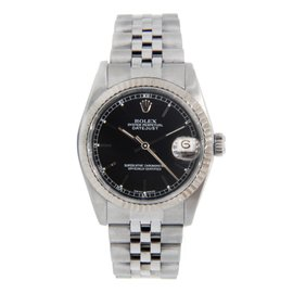 Rolex Datejust 68274 Midsize Black Dial Stainless Steel Jubilee Watch