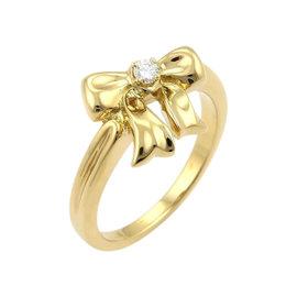 Tiffany & Co. 18K Yellow Gold Diamond Bow Ring