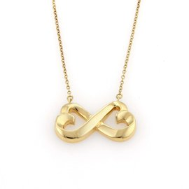 Tiffany & Co. Paloma Picasso 18K Gold Double Loving Hearts Pendant Necklace