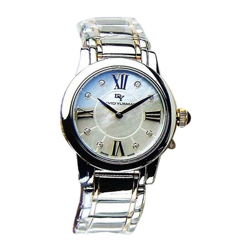 """Image of """"David Yurman Stainless Steel, Sterling Silver & 18K Rose Gold Sapphire"""""""