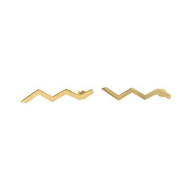 Tiffany & Co. Paloma Picasso 18K Yellow Gold Zig Zag Earrings