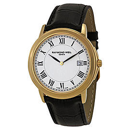 Raymond Weil 5466-P-00300 Tradition White Dial Gold-Plated Mens Watch