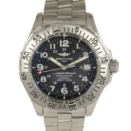 Breitling Aeromarine SuperOcean A17360 Stainless Black Dial Automatic Men's Watch