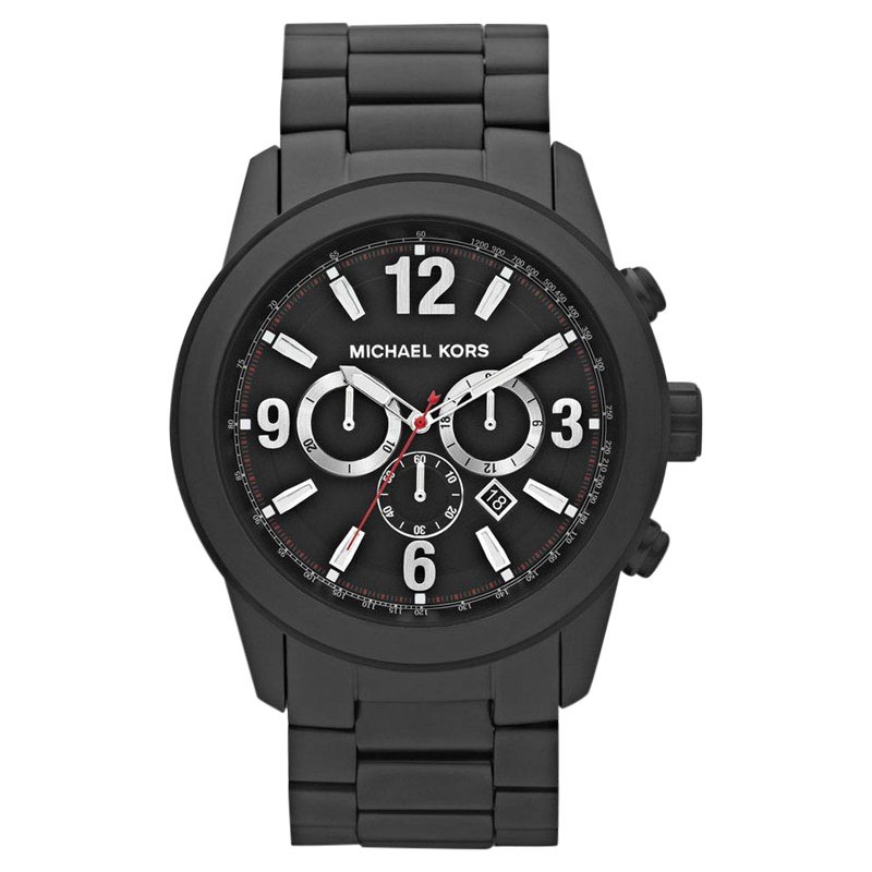 """Image of """"Michael Kors Mk8196 Chronograph Black Ion-plated Stainless Steel Mens"""""""