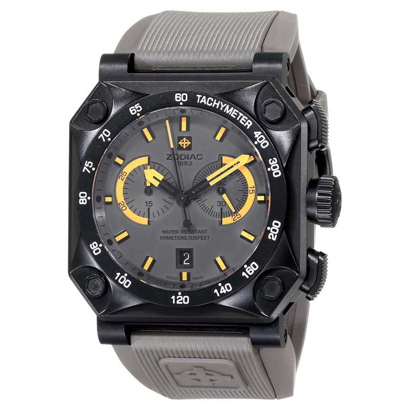 "Image of ""Zodiac ZMX Zo8537 Adventure Chrono Analog Display Swiss Quartz Grey"""