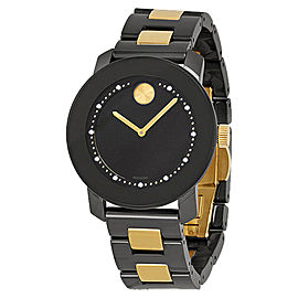 Movado MB013496115 Black Dial Black Ceramic and Steel Bracelet Womens Watch
