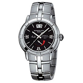 Raymond Weil 2843-ST-00207 Parsifal Black Dial Stainless Steel Watch