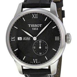 Tissot T0064281605800 Le Locle Black Dial Leather Strap Automatic Men's Watch