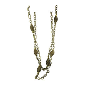 David Yurman 925 Sterling Silver & 18K Yellow Gold Smoky Quartz Bijoux Necklace
