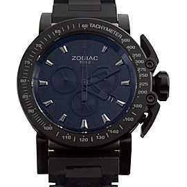 Zodiac ZO8542 Black Dial Chronograph Titanium Case Swiss Made Quartz Mens Watch