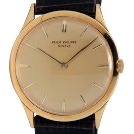 Patek Phillipe 2589 18K Gold Case Gold Tone Dial Hand Winding Mens Watch