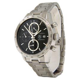 Tag Heuer CV2016-0 Calibre 16 Carrera Automatic Chrono Black Dial Watch